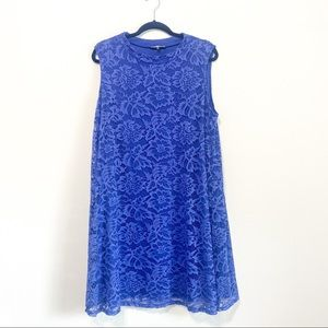 Neiman Marcus Blue Lace Shift Dress Size 20W